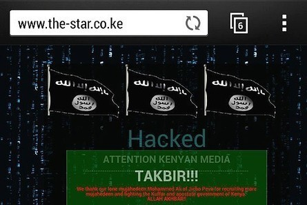 Nairobi Star website briefly defaced by hackers | Nairobi News | Information Cyber Corps | Scoop.it