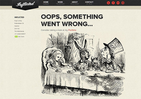 Creative and Engaging 404 Error Pages | Shape-Grafica | Scoop.it