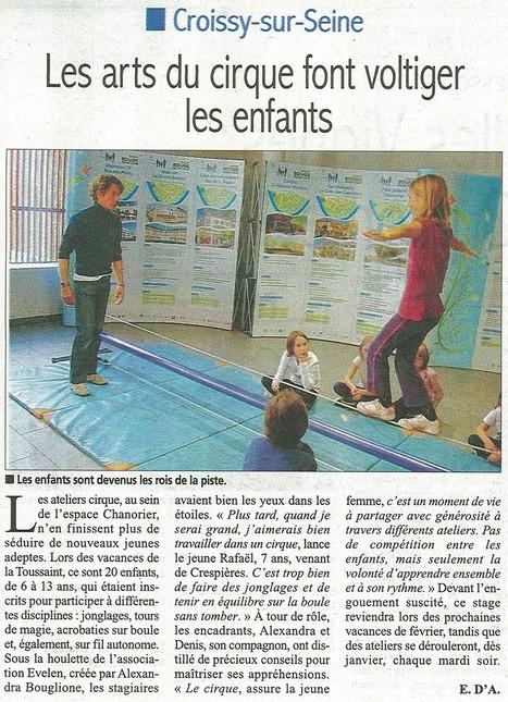 Atelier cirque proposé à chaque vacances à l'Espace Chanorier | Croissy sur Seine | Scoop.it