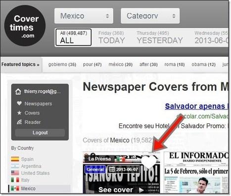 Covertimes : le lecteur de titres de journaux mondiaux | MEDIATOOLS | Scoop.it