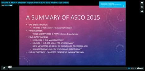 Recording Available: Report from ASCO 2015 with Dr. Don Dizon | Breast Cancer News | Scoop.it