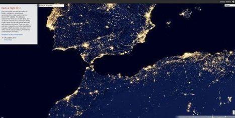 Google Maps añade capa para navegar por el planeta bajo visión nocturna.- | Comunicación y realidad | Scoop.it