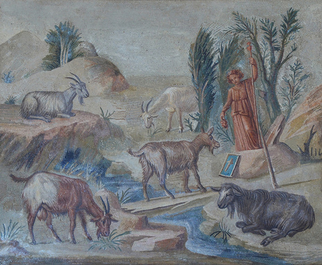 Art and sculptures from Hadrian's Villa: Three mosaic panels with bucolic scenes | LVDVS CHIRONIS 3.0 | Scoop.it