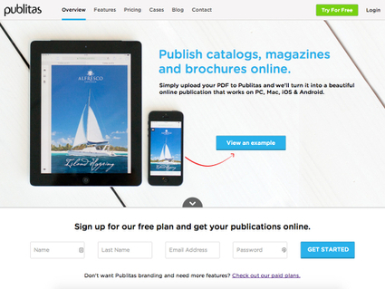 Publitas, convertir un fichier PDF en un superbe magazine en ligne | Time to Learn | Scoop.it