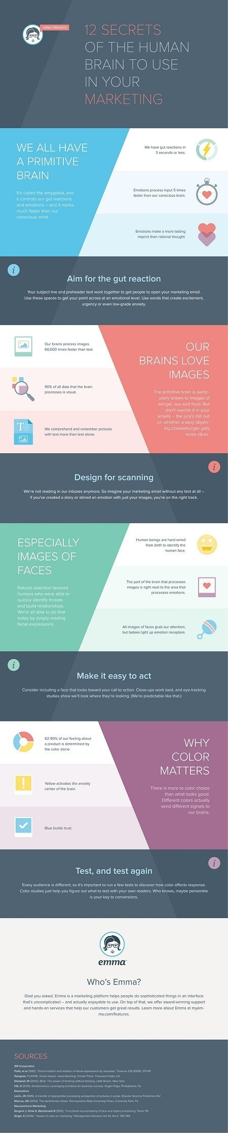 12 Secrets of the Human Brain to Use in Your Marketing [Infographic] | СписаниеТО Интернет Маркетинг | Scoop.it
