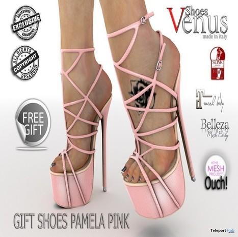 Pamela Pink High Heels Group Gift by VeNuS Shoes | Teleport Hub - Second Life Freebies | Second Life Freebies | Scoop.it