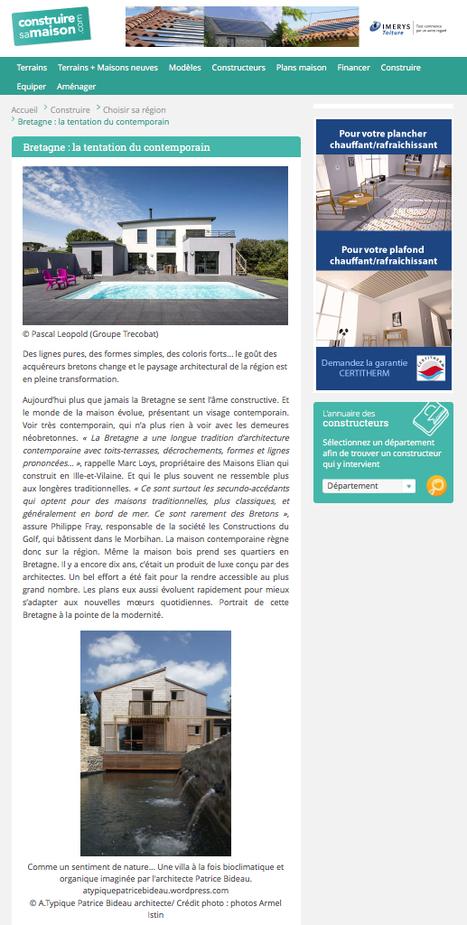 Bretagne : la tentation du contemporain avec ConstruireSaMaison.com | architecture..., Maisons bois & bioclimatiques | Scoop.it