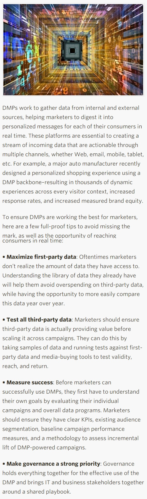 Data Management Platforms Point Marketers To Future Of Personalization - CMO.com | The Marketing Technology Alert | Scoop.it