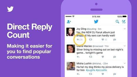 Twitter indique le nombre de réponses à un tweet et facilite le suivi des conversations | Usages professionnels des médias sociaux (blogs, réseaux sociaux...) | Scoop.it