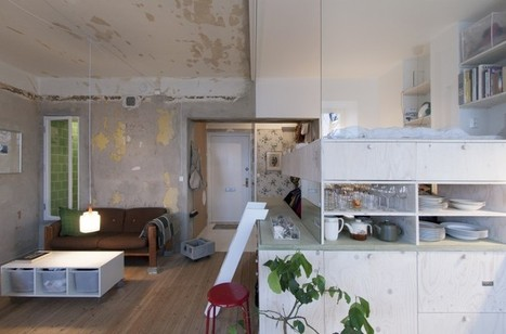 Architect transforms storage room into a micro home - Images | Living Little | Scoop.it
