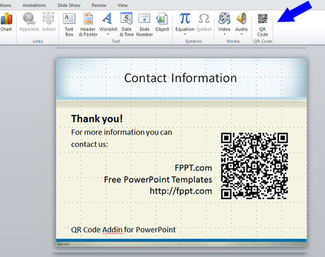 QR Code Addin for PowerPoint | PowerPoint Presentation | Educational Technology in the Library | Scoop.it