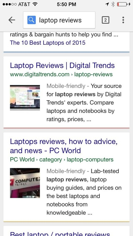 Google Testing Large Images In Mobile Search Results - Search Engine Land | Mobile Marketing | News Updates | Scoop.it