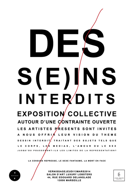 "Vernissage exposition "" DESS(E)INS INTERDITS "" @ Luxury Lobsters 