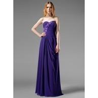 A-Line/Princess Sweetheart Floor-Length Chiffon Evening Dress With Ruffle Beading Appliques   wedding dresses   Scoop.it