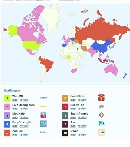 Map of Most Popular mHealth Apps Worldwide | Health around the clock | Scoop.it