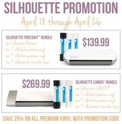 Awesome Silhouette Machine and Vinyl Deal options | Deals | Scoop.it