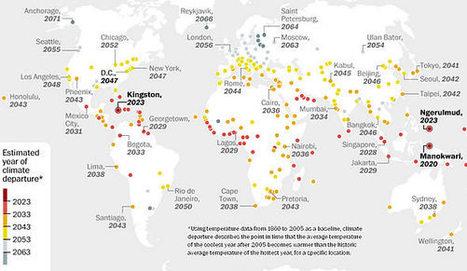 Réchauffement climatique : la carte des villes qui seront touchées en premier | ENVIRONNEMENT-POLLUTION-CLIMAT | Scoop.it