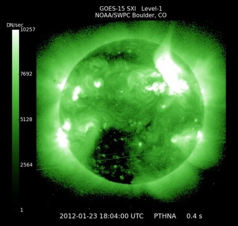 Huge Solar Eruption Sparks Strongest Radiation Storm in 7 Years | Solar Flares & Coronal Mass Ejections | Space Weather, Northern Lights & Sun Storms | Space.com | Astronomy Domain | Scoop.it