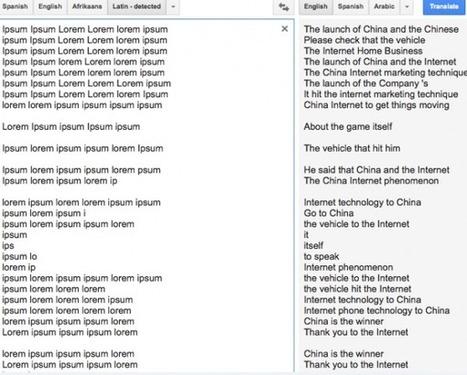 Lorem Ipsum: A Secret Code in Google Translate? | Web Content Enjoyneering | Scoop.it
