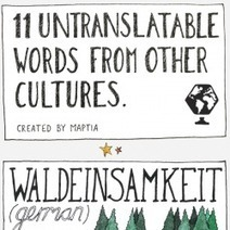 11 Untranslatable Words From Other Cultures | 1000+ words | Scoop.it
