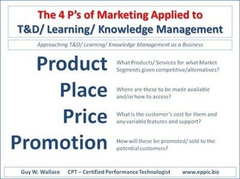 The 4 P's of Marketing Applied to T&D/ Learning/ Knowledge Management | KnowledgeManagement | Scoop.it