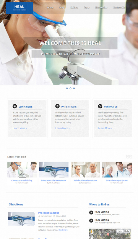 Heal.WordPress.Medical.Care.Theme | WP Download | sdfgsfd | Scoop.it