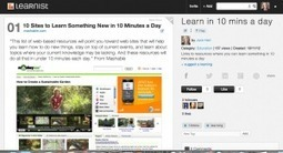 Learn something new in 10 minutes a day | Learning in the Social Workplace | APRENDIZAJE | Scoop.it