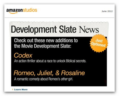 Amazon Studios Adds Two New Projects to Its Movie Development Slate | Transmedia producing | Scoop.it