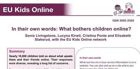 In their own words: What bothers children online? – EU Kids Online ... | Eu Kids Online | Scoop.it