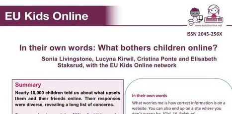 In their own words: What bothers children online? – EU Kids Online ...   Eu Kids Online   Scoop.it