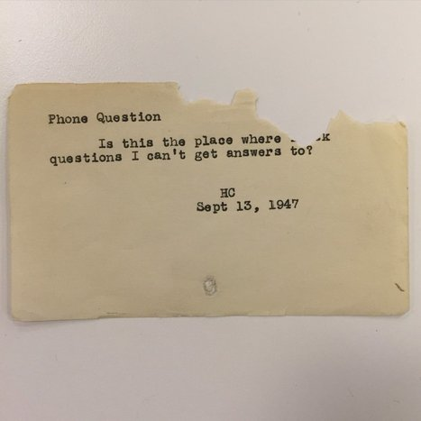 The Hilarious, Embarrassing, And Bizarre Questions People Asked Librarians Before Google Existed | OddBasement.com | Scoop.it