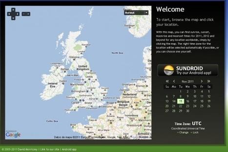 Sunrise Sunset Map | para saber todo sobre los recorridos del Sol y la Luna | MLKtoSCL | Scoop.it