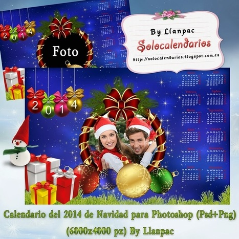 Recursos Photoshop Llanpac: Calendario del 2014 de Navidad ... | Recursos | Scoop.it