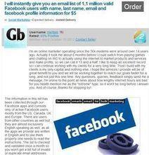 Facebook : 1 million de données personnelles achetées 5 dollars | Badjack | Scoop.it