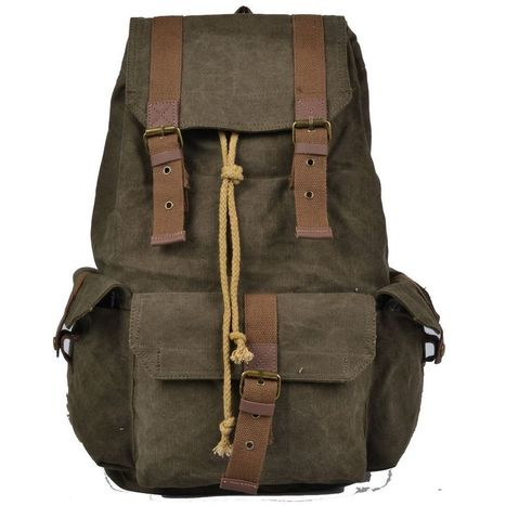 Veevan American canvas backpacks rucksacks laptop bags shoulder bookbags for boy | Marcs College Backpack Ideas | Scoop.it