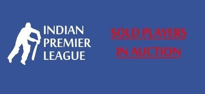 Complete List of Sold Players in Indian Premier League Season 7 2014 | Indian Premier League IPLT20 2014 | Scoop.it