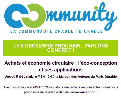 Le 8 décembre : parlons de l'éco-conception et de ses applications à la Maison des Acteurs du Paris Durable ! | Construction et gestion d'installations temporaires | Scoop.it