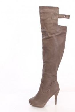 Taupe Thigh High Platform Boots Faux Leather   The Season's Hottest Styles from Pink Basis   Scoop.it