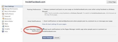 Complete walkthrough of Facebook's mobile Pages Manager app | Social Intelligence | Scoop.it