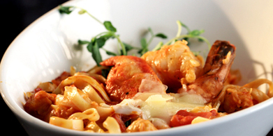Lobster Shrimp and Crab Fettuccine - A Recipe from Food Network Canada. | New Recipes to Try | Scoop.it