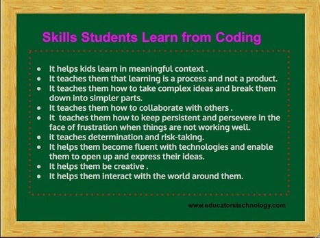 These are The Skills Students Learn from Coding ~ Educational Technology and Mobile Learning | Technology for classrooms | Scoop.it