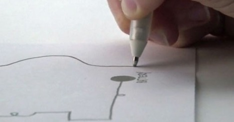 """Ballpoint Pen Draws Electronic Circuits With Conductive Ink   L'impresa """"mobile""""   Scoop.it"""