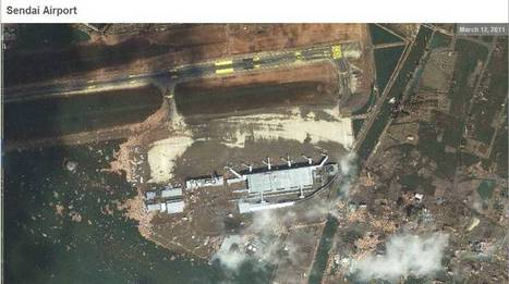 [Photo] Image satellite de l'aéroport de Sendai après le tsunami... on Twitpic | Japon : séisme, tsunami & conséquences | Scoop.it