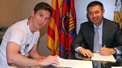 Barcelona mostró a Lionel Messi firmando su nuevo contrato | Frank Gómez n° Infinito | Scoop.it