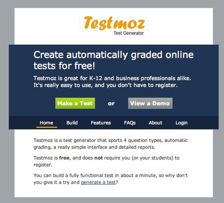 Testmoz - The Test Generator | Herramientas web 2.0 | Scoop.it