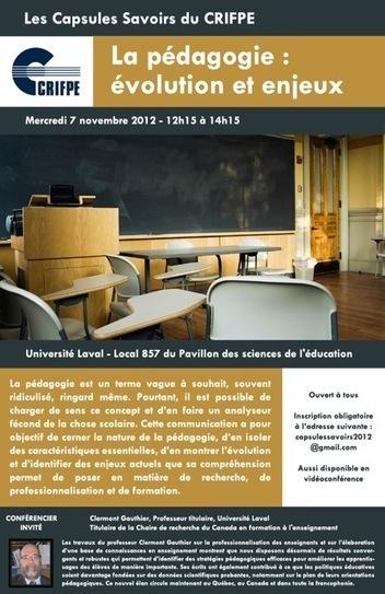 Conférence - La pédagogie : évolution et enjeux actuels | Français langue étrangère et technologies | Scoop.it