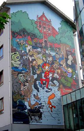 Robbedoes in de Marollen is vijftigste stripmuur | Discover Brussels - Brussel ontdekken - Découvrez Bruxelles | Scoop.it