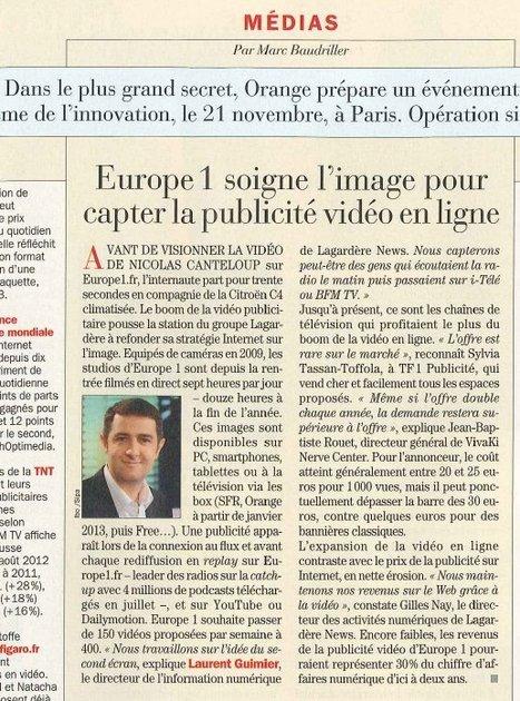 Europe 1 soigne l'image pour capter la publicité vidéo en ligne | DocPresseESJ | Scoop.it