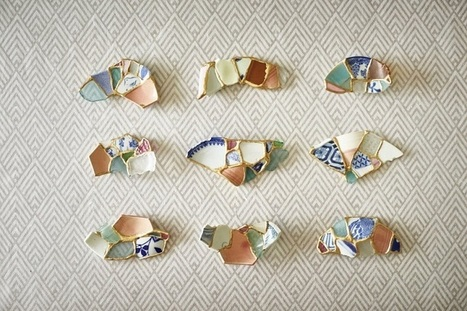 Ceramic Shards Found on Beach Are Turned into Chopstick Rests Using Kintsugi | Le It e Amo ✪ | Scoop.it