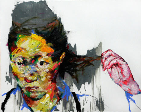 Juxtapoz Magazine - Massive Charcoal and Oil Paintings by Shin Kwangho | Contemporary Asian Art | Scoop.it